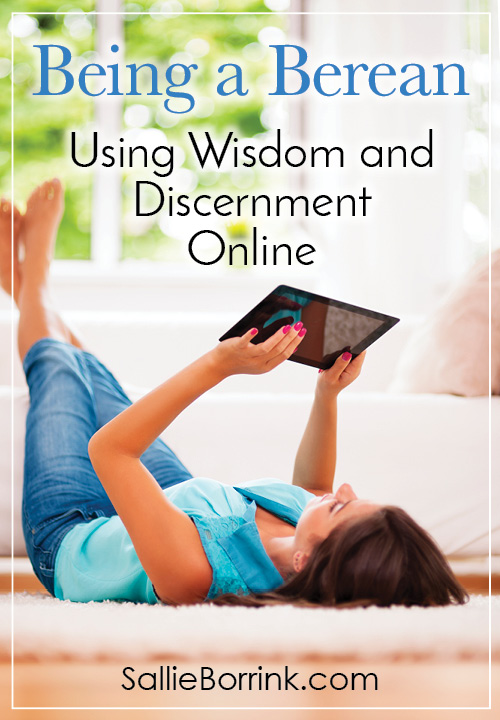 Being a Berean – Using Wisdom and Discernment Online