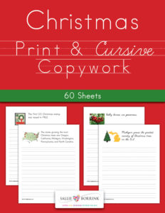 Christmas Copywork – Print and Cursive