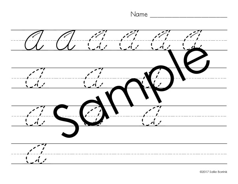 Distraction Free Cursive Handwriting with arrows 3