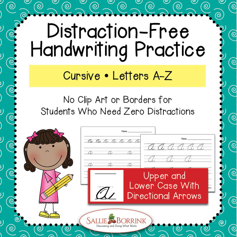 Cursive Handwriting Practice - Upper & Lower Case Letters (with arrows)
