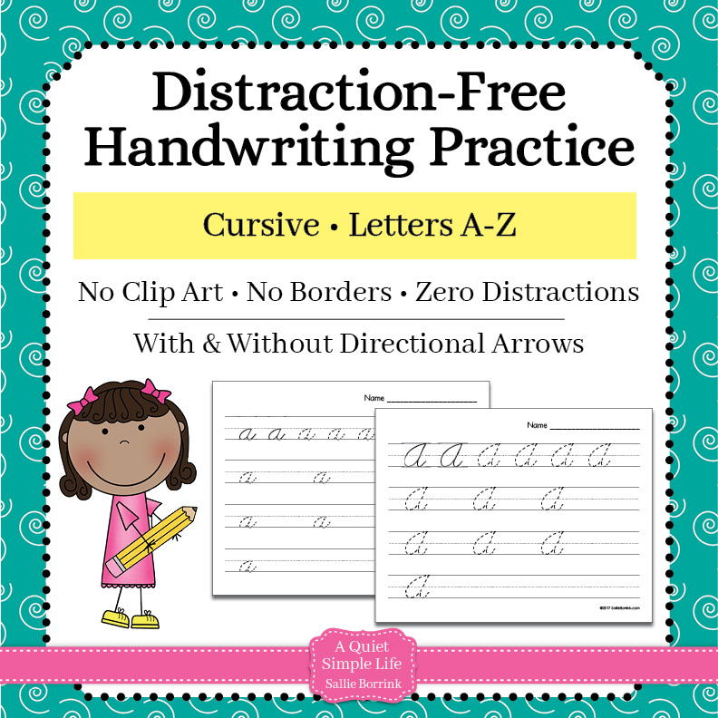 Cursive Handwriting Practice – Upper & Lower Case Letters