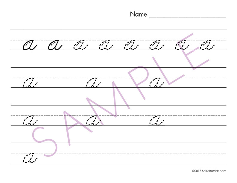 distraction free cursive handwriting practice upper lower case with arrows. Black Bedroom Furniture Sets. Home Design Ideas