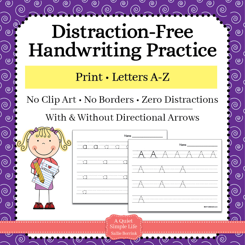 Print Handwriting Practice – Upper & Lower Case Letters