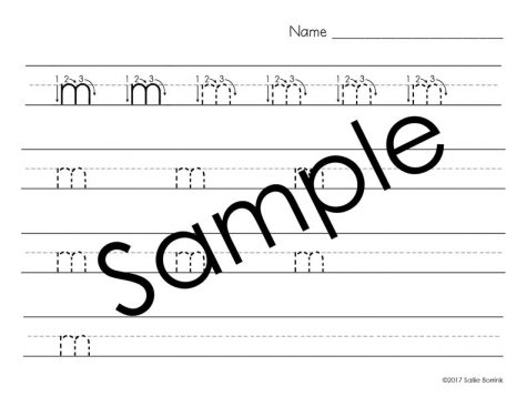 Distraction Free Print and Cursive Handwriting Bundle with Arrows 2