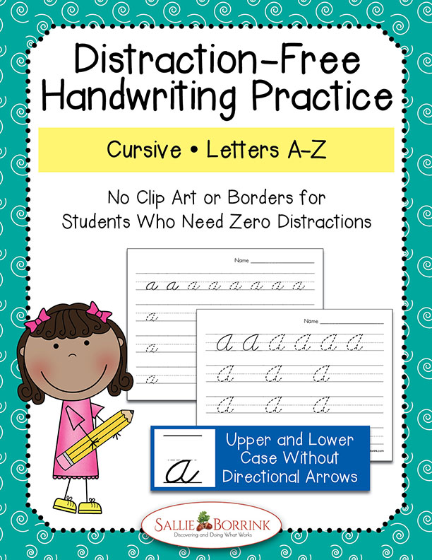 Distraction-Free Cursive Handwriting Practice - Upper & Lower Case without Arrows