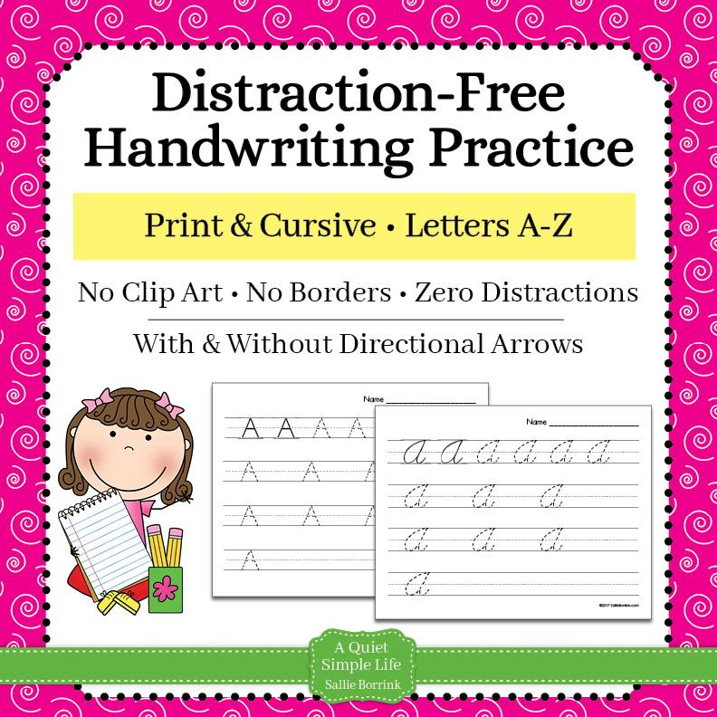 Print & Cursive Handwriting Practice Bundle – Letters