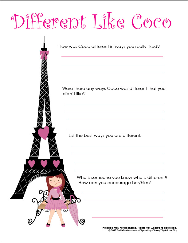 Different Like Coco Printable