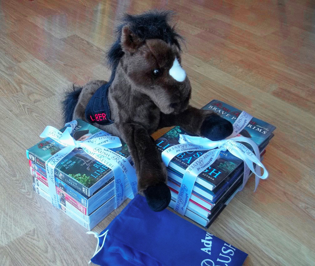 Rush Revere Books, CDs, and Liberty stuffed animal