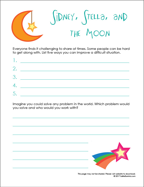 Sidney, Stella, and the Moon Printable 2