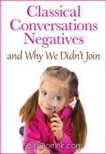 Classical Conversations Negatives and Why We Didn't Join