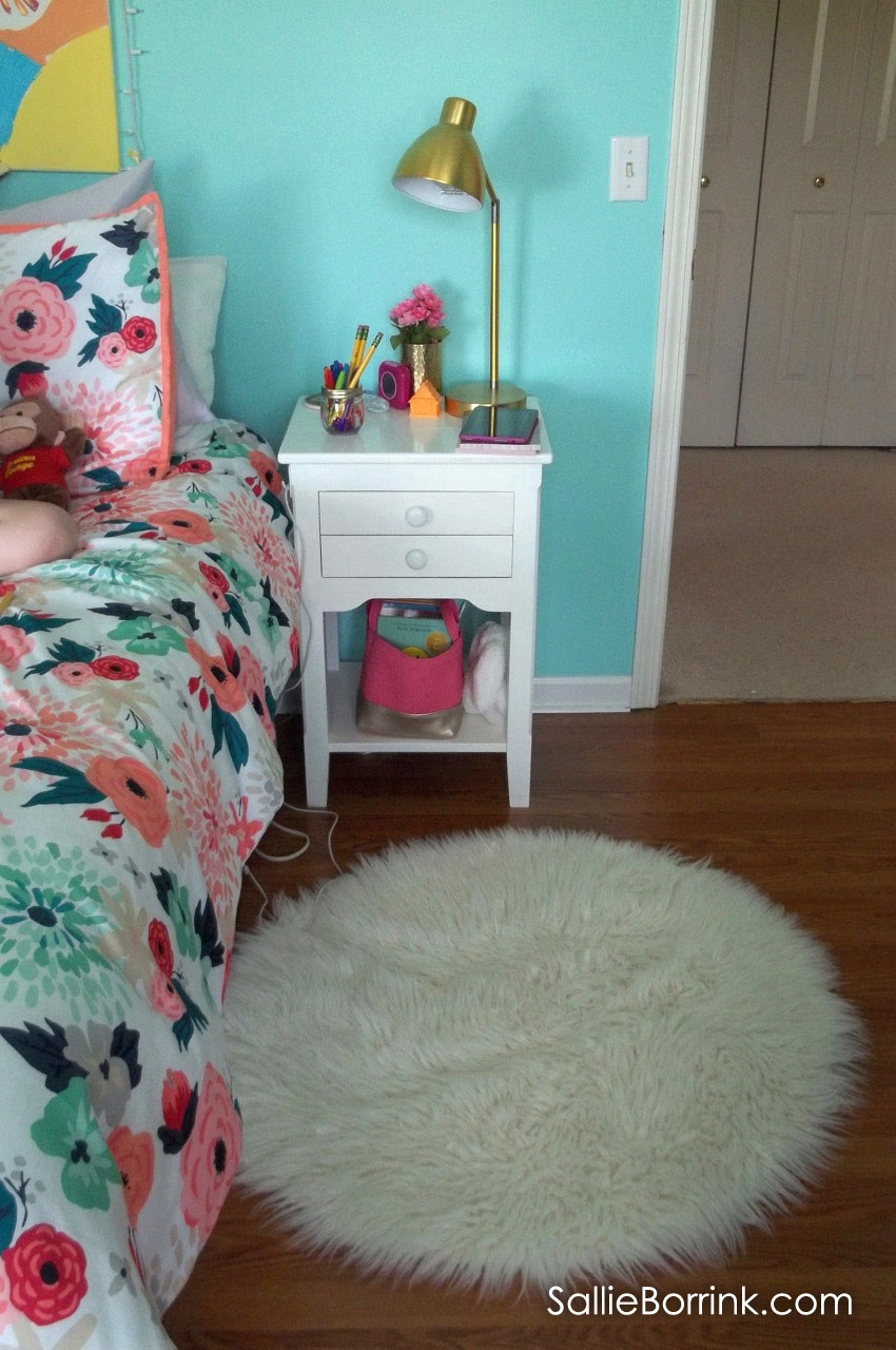 Tween Girl Faux Fur Rug