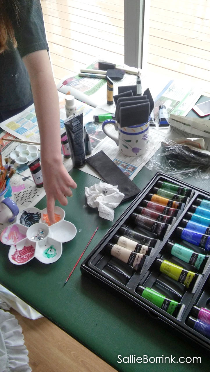 Preparing to Paint with Acrylics