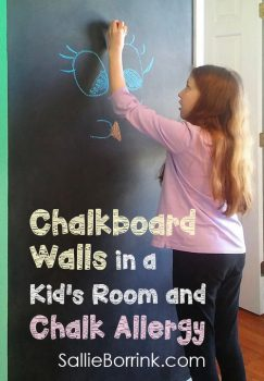 Chalkboard Walls in a Kid's Room and Chalk Allergy