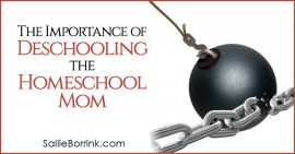 The Importance of Deschooling The Homeschool Mom 2