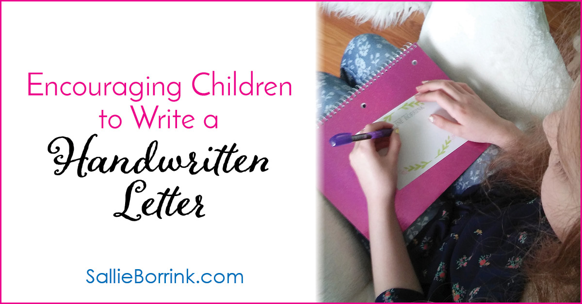 Encouraging Children to Write a Handwritten Letter 2