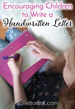 Encouraging Children to Write a Handwritten Letter