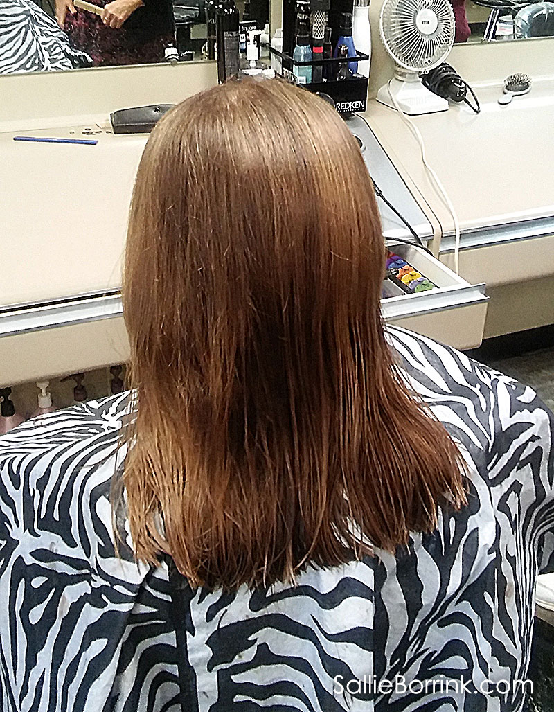 Nine Inches Shorter After Donating Ponytail for Cancer Wigs