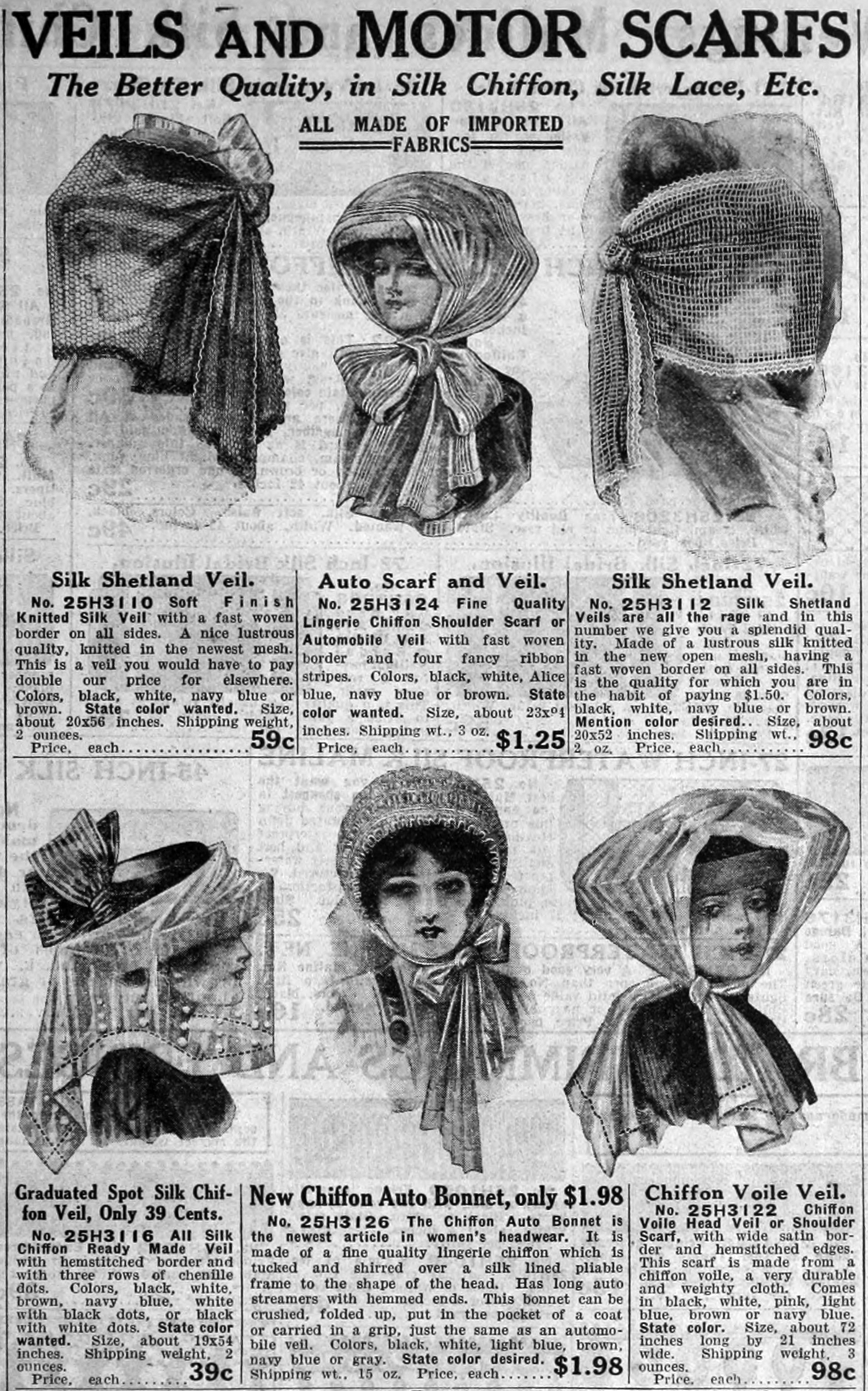 Veils and Scarves for Motoring