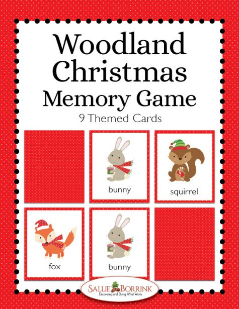 Woodland Christmas Memory Game