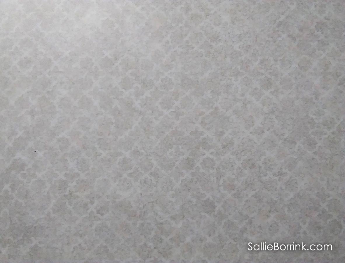 Wilsonart Gesso Tracery quatrefoil pattern countertop