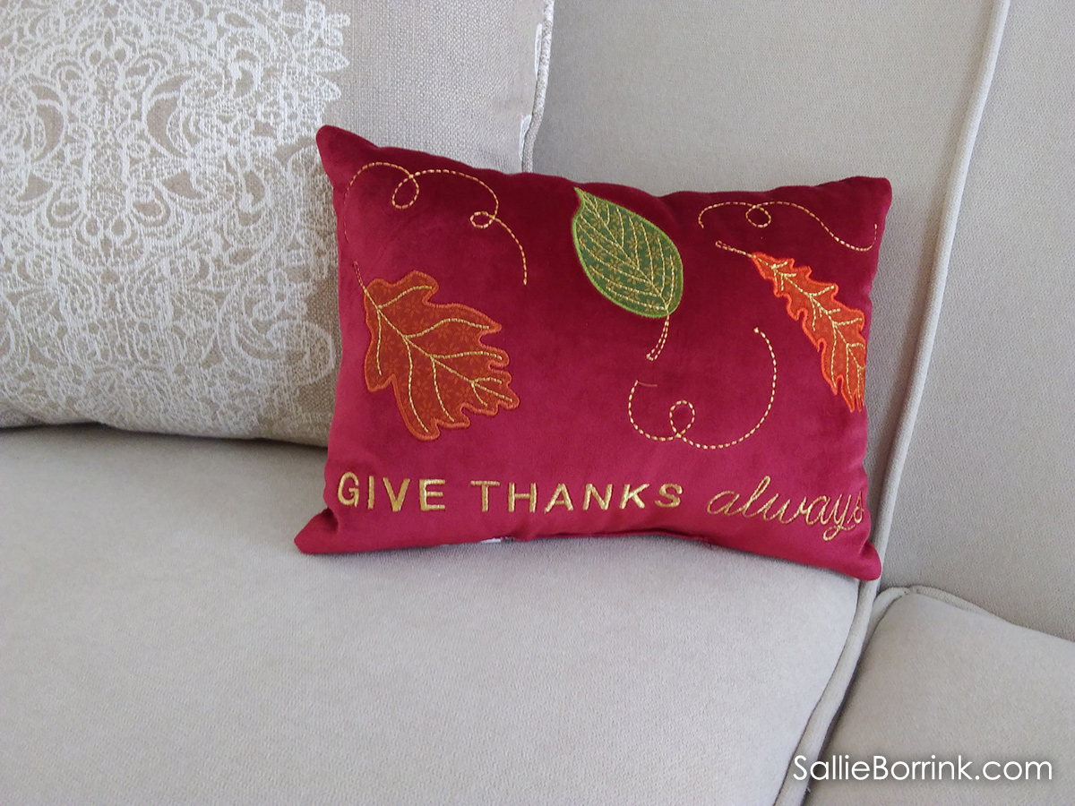 Give Thanks Always pillow