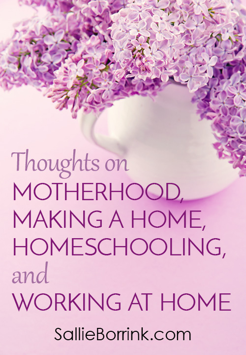 Thoughts on Motherhood, Making a Home, Homeschooling, and Working at Home