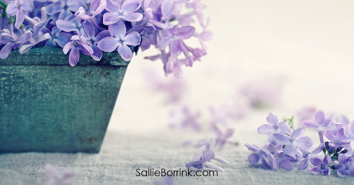 Vase with Bouquet of Purple Lilacs - Encouraging a Homeschool Mom