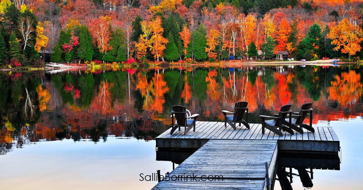 Wooden Dock on Autumn Lake - Encouraging a Homeschool Mom