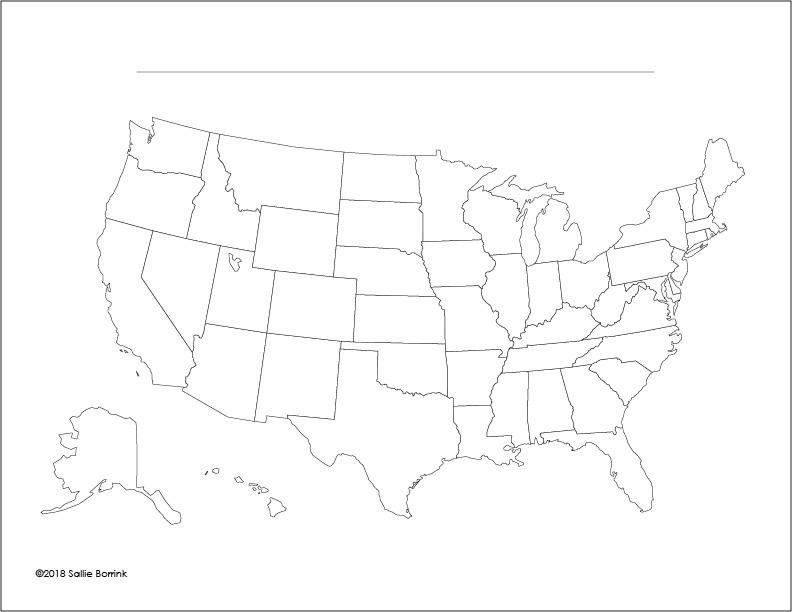 Unit Study United States Map