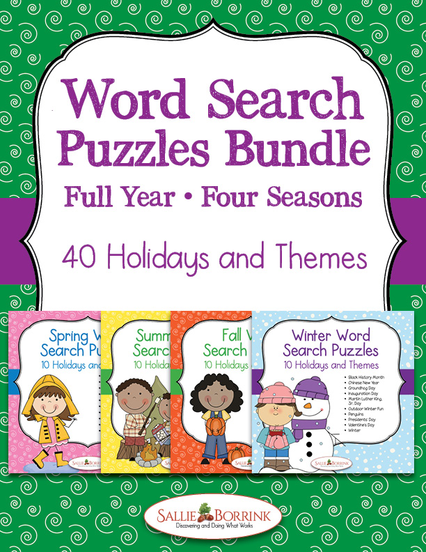 Word Search Puzzles - Full Year of Seasons Bundle