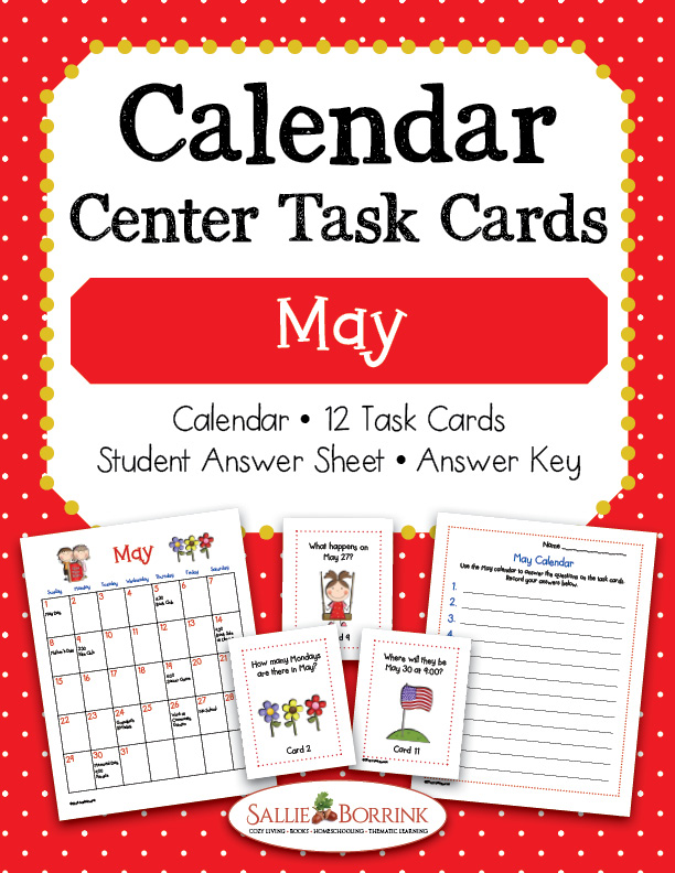 May Calendar Activity for Kids