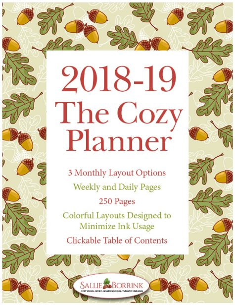 The Cozy Planner – Academic Year Editable Planner – 2018-2019
