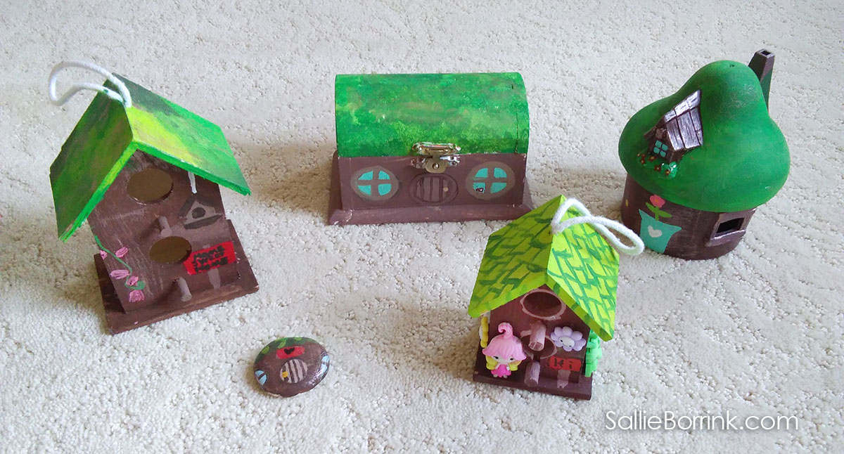 Fairy Houses Painted with Acrylics