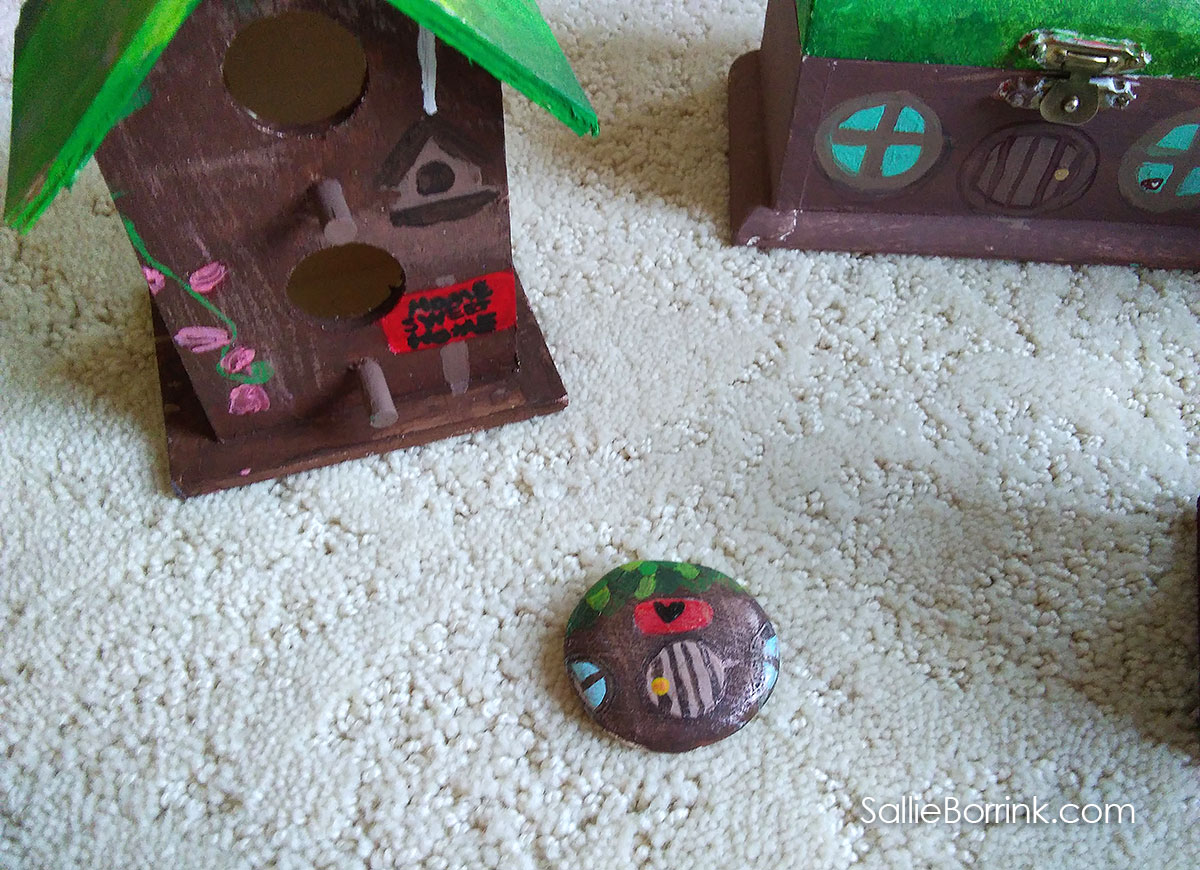 Fairy Houses Painted with Acrylics 2