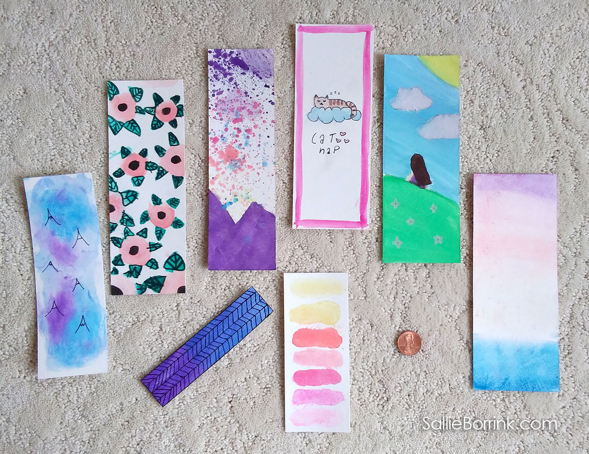 Watercolor Bookmarks on Watercolor Paper