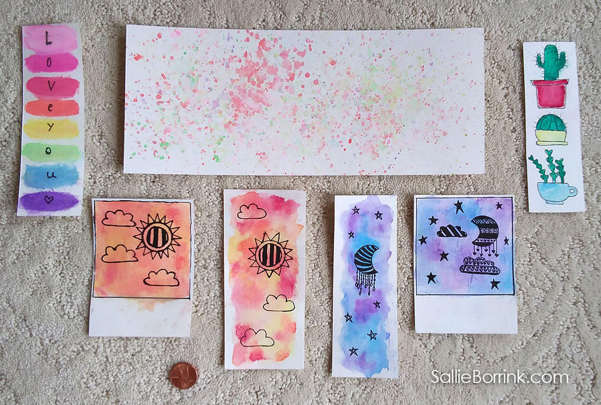 Watercolor Bookmarks on Watercolor Paper 2