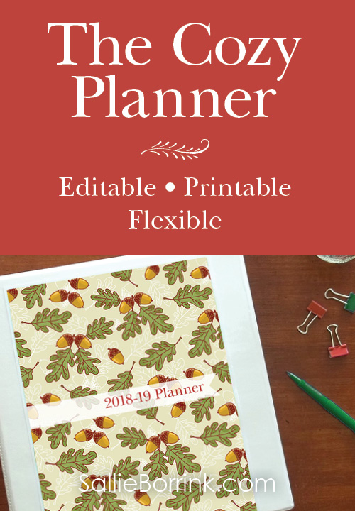 The Cozy Planner Editable and Printable Planner