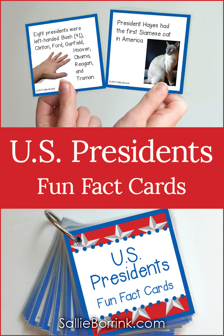 U.S. Presidents Fun Fact Cards Ideas for How to Use