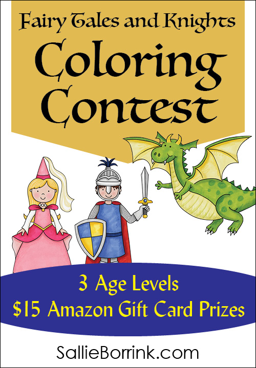 Fairy Tales and Knights Coloring Contest