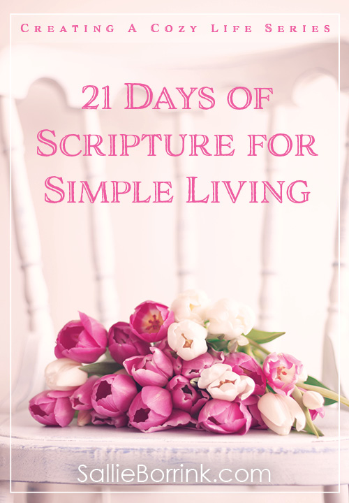 21 Days of Scripture for Simple Living Pin