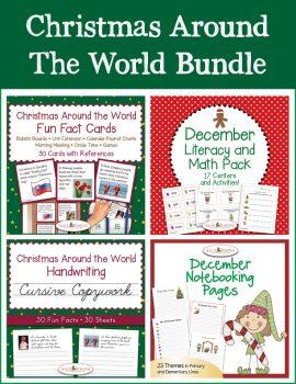 Christmas Around the World Bundle - Cursive