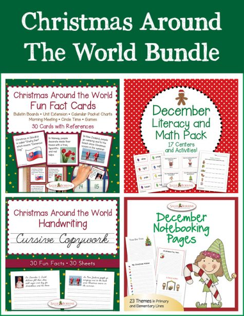 Christmas Around the World Bundle - Cursive