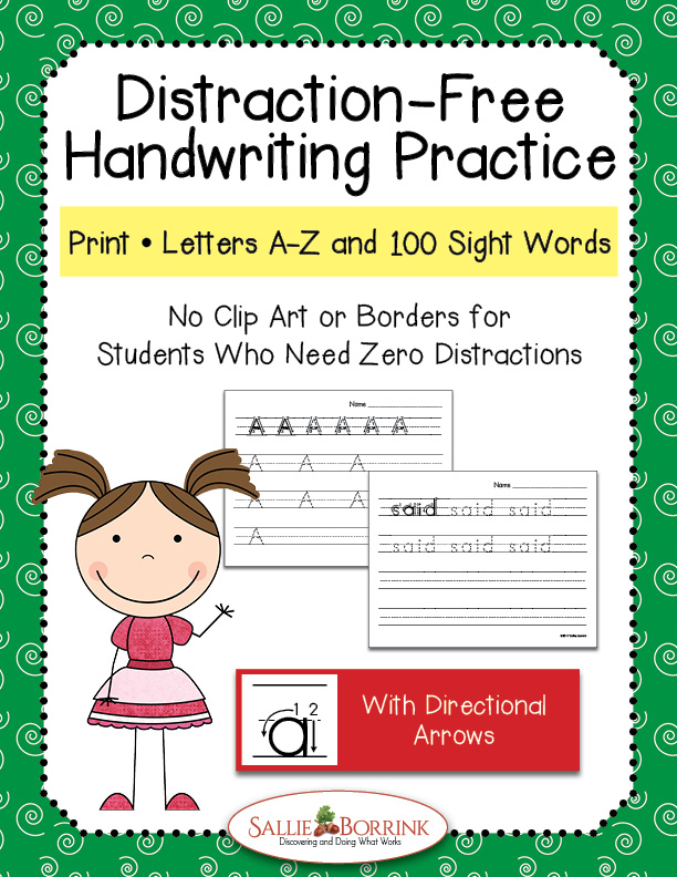 Print Handwriting Practice - Letters & Words with Arrows