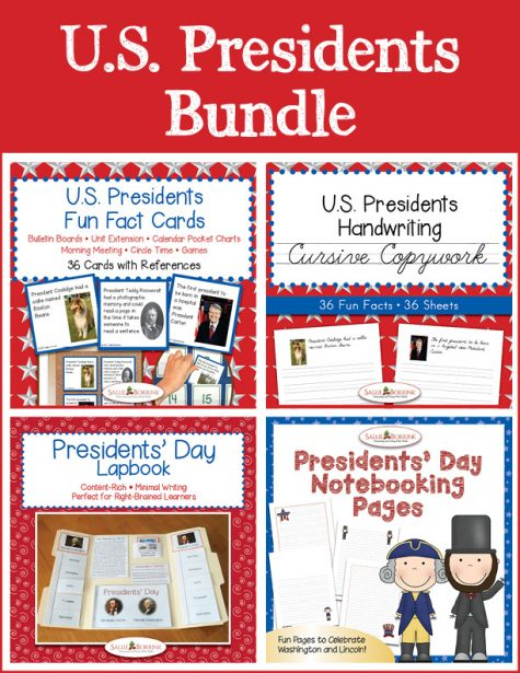 US Presidents Bundle - Cursive