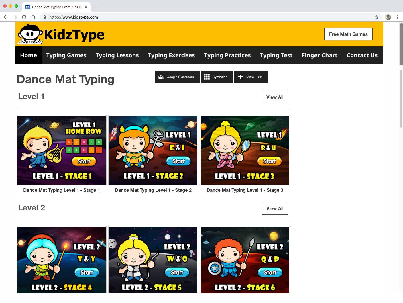 Kidztype Homepage