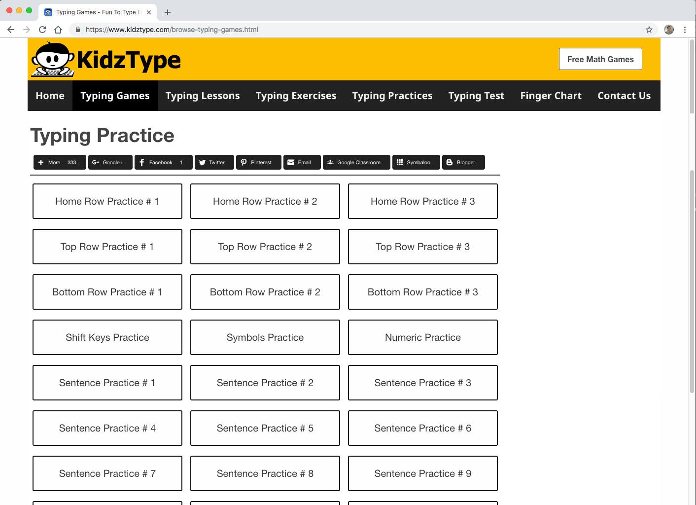 KidzType Typing Practice
