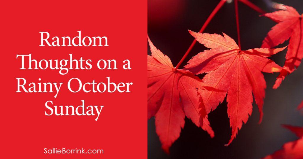 Random Thoughts on a Rainy October Sunday 2