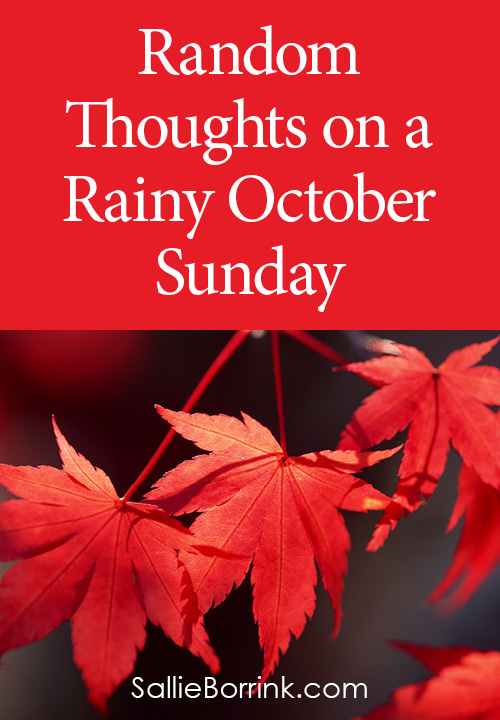 Random Thoughts on a Rainy October Sunday