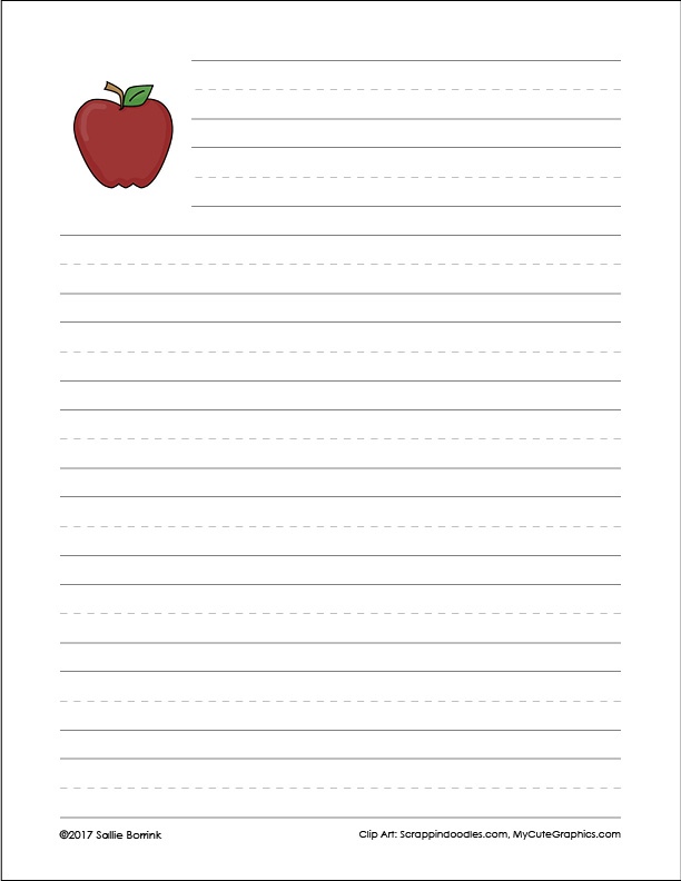 Apple Writing Prompts and Papers 8