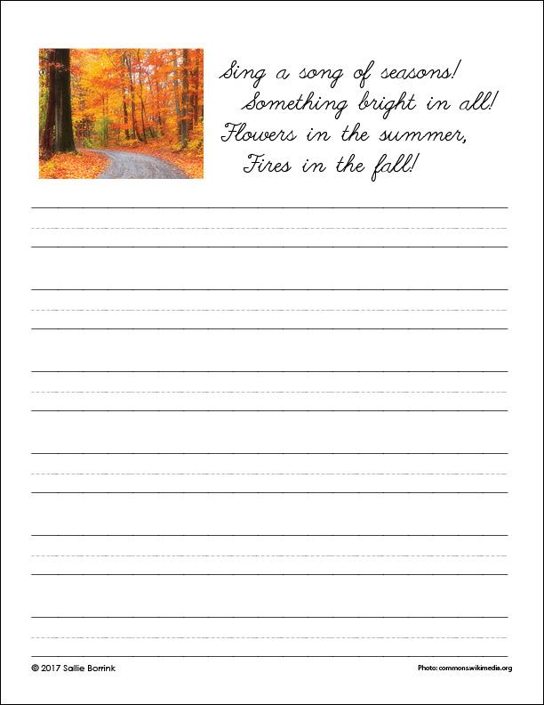 Autumn Fires Cursive Page 3